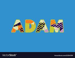 Adam concept word art Royalty Free Vector Image