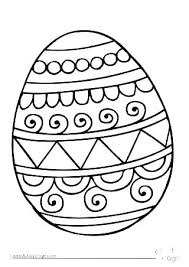 Printable Easter Egg Coloring Pages Egg Outline Template