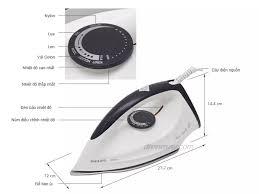 Bàn ủi khô Philips GC160 (trắng tím)