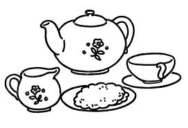 tea coloring pages coloring pages line art tea set free printable teapot coloring pages decorative glamorous