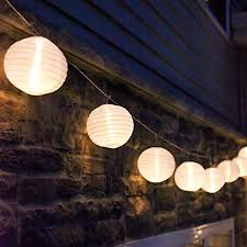 G White Outdoor String Light 10 Mini Lanterns 1 Plugin Strand Connectable  Water Resistant IndoorOutdoor Use Expandable To 240 Lights