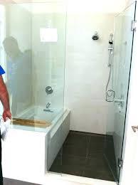 bathtub shower combo captivating bathroom tub insert how to install