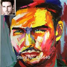 custom portrait personalized canvas oil painting art from photo hand painted francoise nielly palette knife face