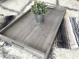 rustic wooden ottoman tray coffee table serving hay il full