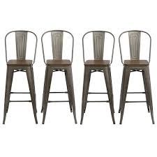 antique bronze distressed rustic wood 30 high bar stools84