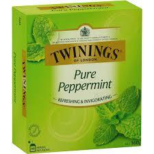 twinings pure peppermint tea bags image