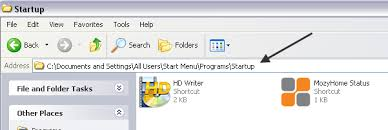 add to startup how to add a program to startup in windows xp