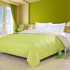 3 pieces 100 egyptian cotton lime green duvet cover set with active printing dot