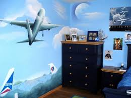 Wonderful Fun Airplane Themed Bedroom