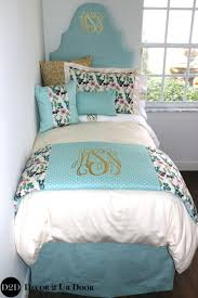 light blue gold multicolor deer woodland designer dorm bedding set