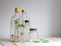 Decorative Colored Glass Bottles Décor Crush Vintage Glass Containers How To Use Them 22
