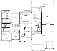 Small Picture Rambler House Plans with Basements Panowa Home Plan Rambler