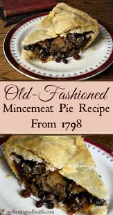 old fashioned mincemeat pie recipe from
