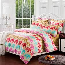 colorful indian elephant twin bedding