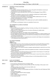 Good Engineering Resume Examples Planning Engineer Resume Samples Velvet Jobs 10
