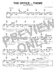 Jay Ferguson The Office Theme Sheet Music Notes Chords Download Printable Piano Solo Sku 416077