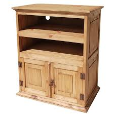 rustic pine tv stand. Modren Stand Rustic Pine Collection  Tall TV Stand COM220 With Tv