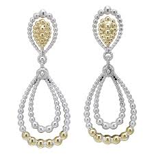 vahan sterling silver and 14k yellow gold chandelier earring