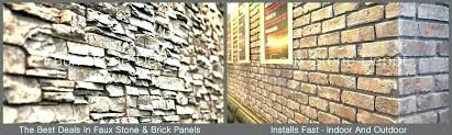 stone panels fake slide 4 a 1 faux brick exterior full size wall menards s