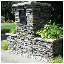 stone mailbox designs. Stone Mailbox Planter More Custom Designs .
