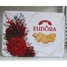 Bánh quy bơ tổng hợp Eudora - Indonesia 423g/hộp