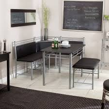 corner breakfast nook furniture contemporary decorations. Modern Retro Black Silver Metal Breakfast Nook Cafe Dining Table Bench Decor  | EBay Corner Breakfast Nook Furniture Contemporary Decorations A