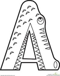 Animal Alphabet Letters Coloring Pages Educationcom