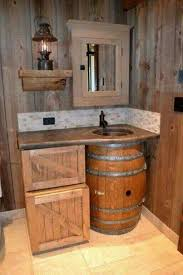 rustic bathroom. i want a small rustic cabin with this as the 1 bathroom