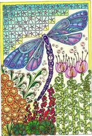 Small Picture Creative Haven Entangled Dragonflies Coloring Book Adult Coloring