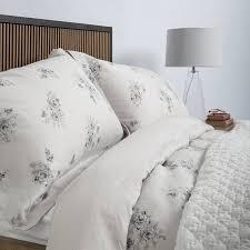 soak sleep vintage fl linen bed linen king bed set grey duvet cover