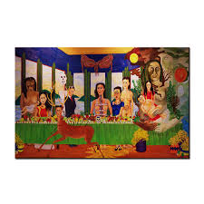 large size print oil painting wall painting frida kahlo last supper decor wall art picture for on large last supper wall art with large size print oil painting wall painting frida kahlo last supper