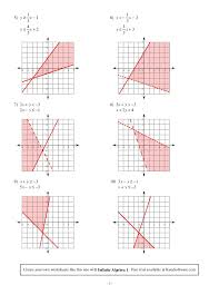 graphing systems of inequalities worksheet systems of inequalities graphing worksheet worksheets for all