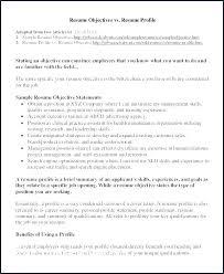 Profile Examples Resume Resume Creator Simple Source