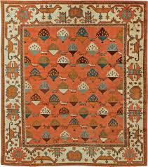 antique turkish oushak rug bb6092