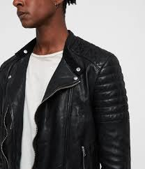 sarls leather biker jacket