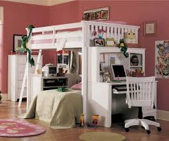 bunk bed with double bed and desk