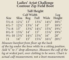 Ariat Heritage Field Boot Size Chart Ariat Boots Sizing Coltford Boots