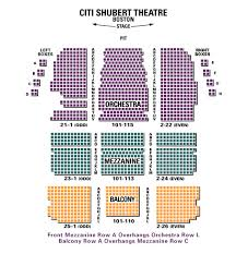 Citi Shubert Theater Seating Chart Circumstantial Shubert Theater Boston Citi Performing Arts