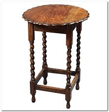 small round antique side table