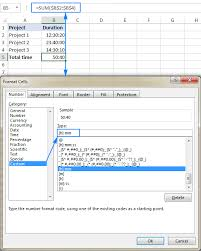 Usa Swimming Time Conversion Chart How To Add Subtract Time In Excel To Show Over 24 Hours