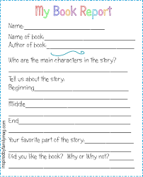 Printable Book Report Forms Elementary Inspired By Family