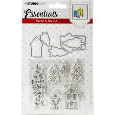 Studio Light Essentials Dies Studio Light Essentials Christmas Houses Stamp Die Set Dc26