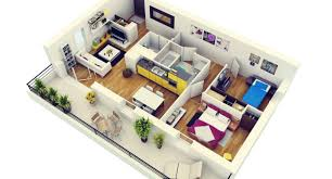 2 bedroom modern house plan 3d pics 3d model house plans arts