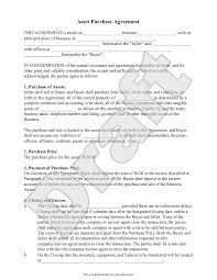 Sample Asset Purchase Agreement Sample Asset Purchase Agreement Form Template Business Pinterest 13