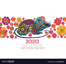 chinese new year card 2020 2020 chinese new year greeting card paper cut