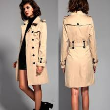 2019 new 2017 high quality street women s classic double ted belt trench coat business waterproof raincoat office lady outerwear from luhaluha