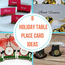 Holiday Placecards 8 Holiday Table Place Card Ideas The Organized Mom