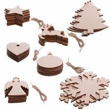 Großhandel 10 Stücke Christbaumschmuck Holz Chip Schneemann Baum Engel Deer Ball Schneeflocke Glocke Hängen Anhänger Weihnachtsdekoration Von