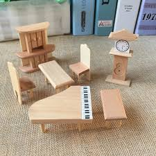miniature dollhouse furniture woodworking. 29Pcs Set Dollhouse Miniature Unpainted Wooden Furniture Suite 1/24 Scale Model Woodworking