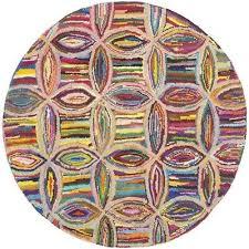 safavieh nantucket contemporary rug round 6